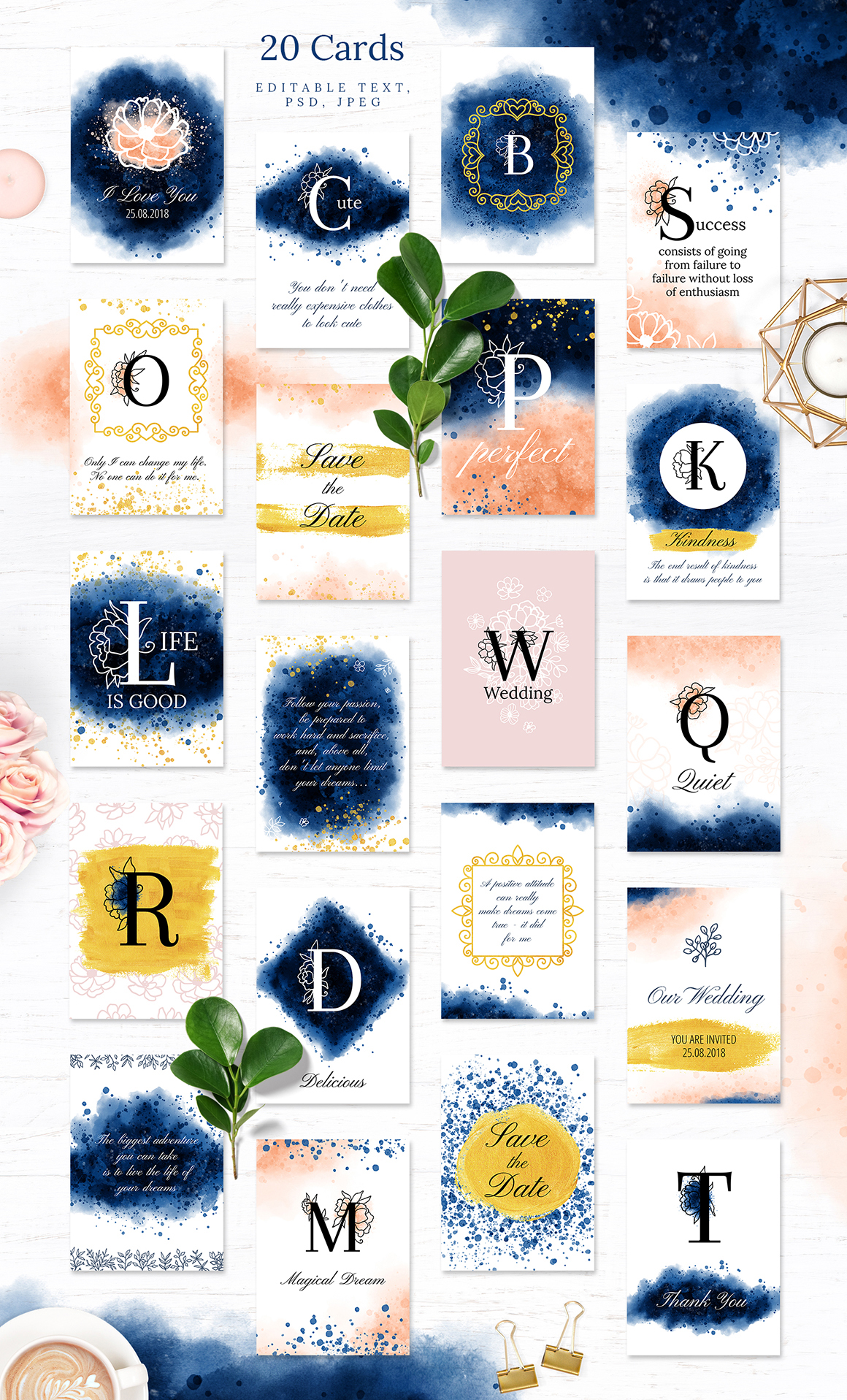 Floral & Watercolor Collection