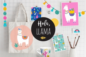 Hola, Llama Cute Summer Collection