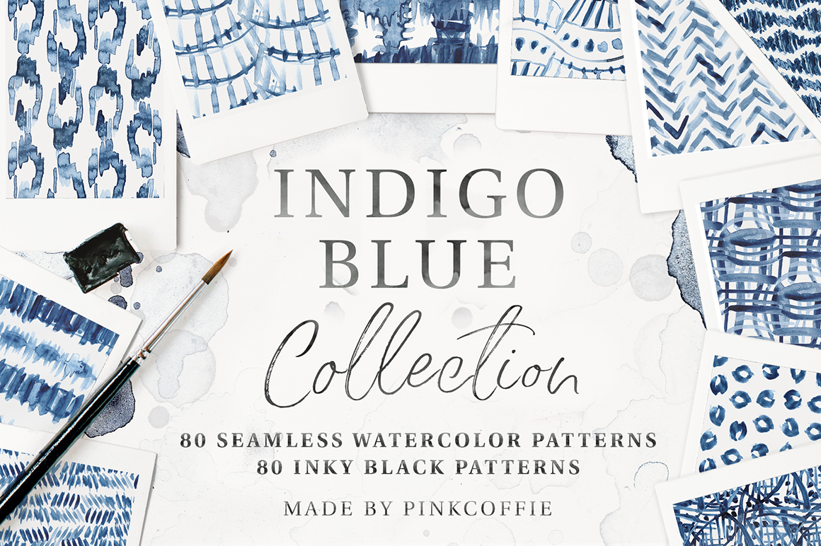 Indigo Blue Collection - 80 Seamless Patterns