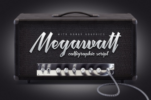 Megawatt Font and Bonus