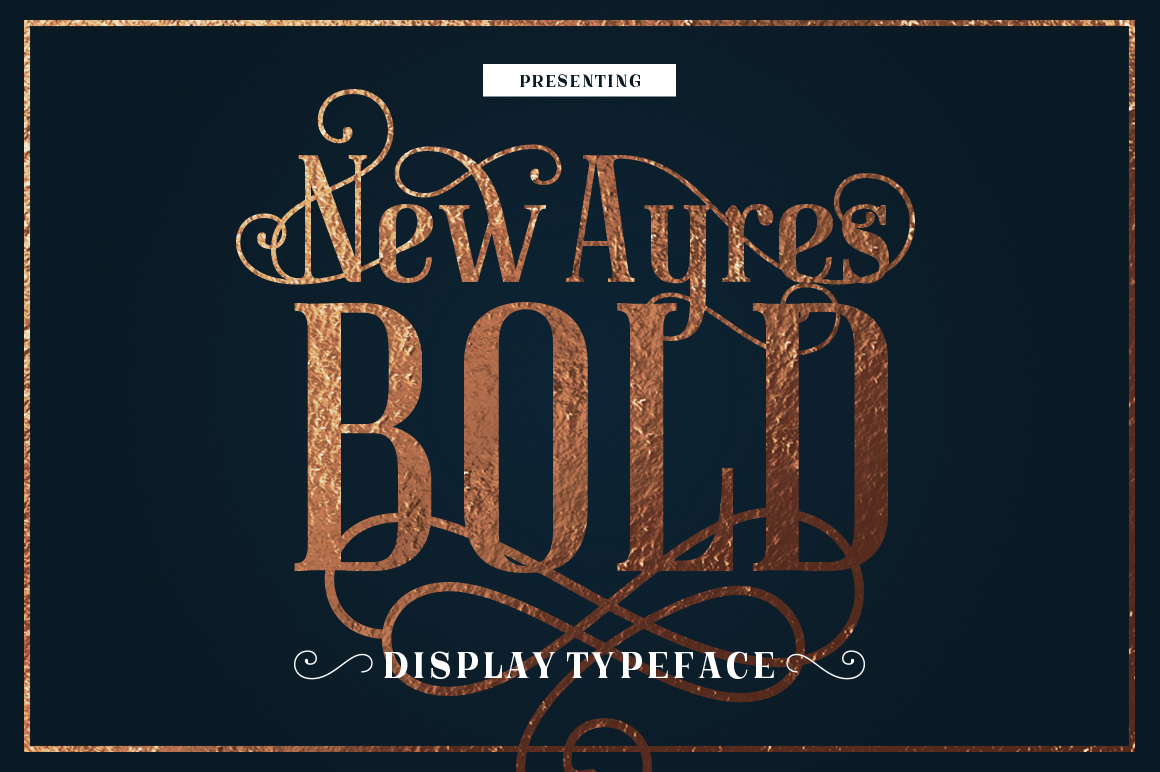 New Ayres Bold Typeface