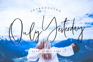 Only Yesterday Hand-Drawn Font