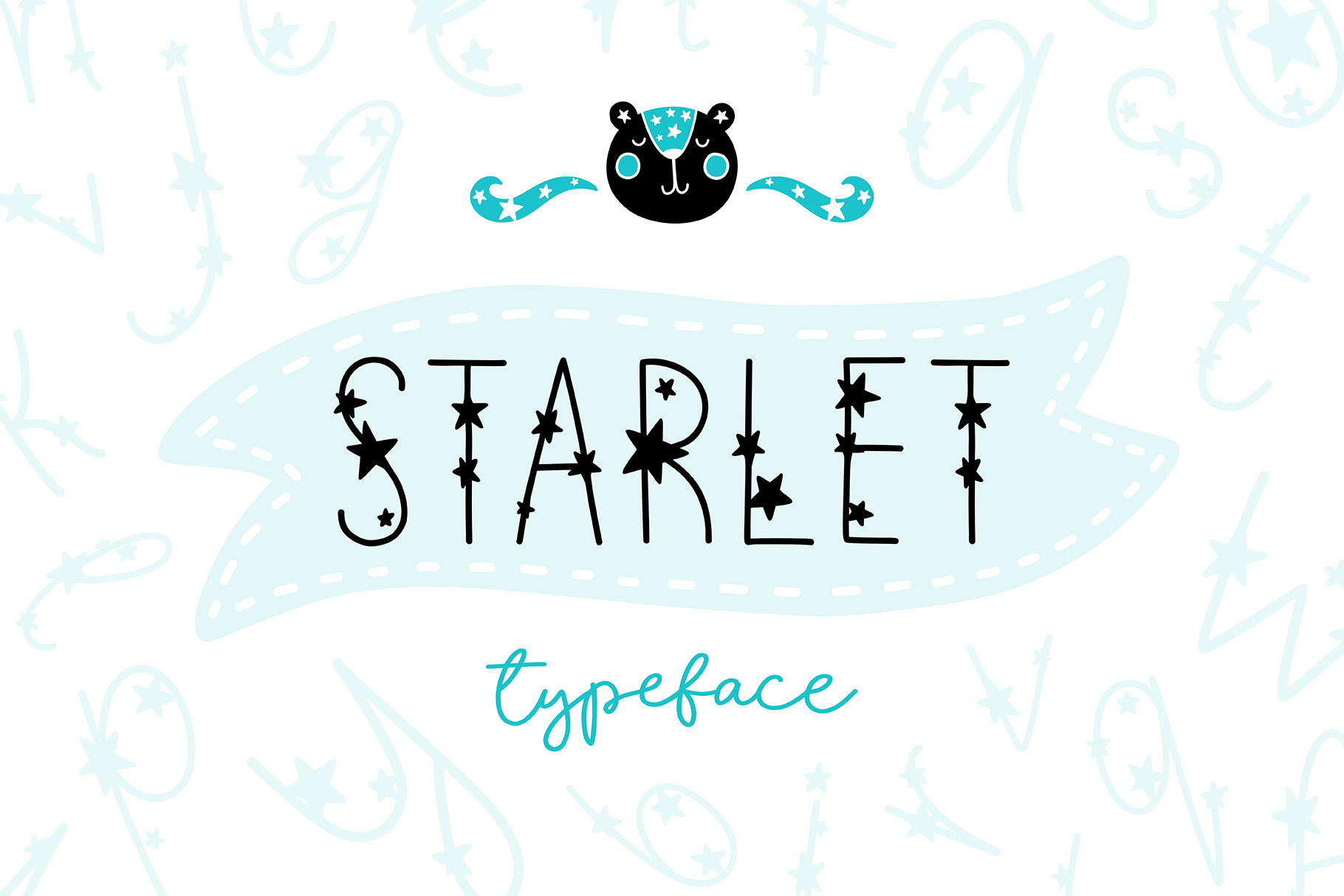 Starlet Typeface with Clipart