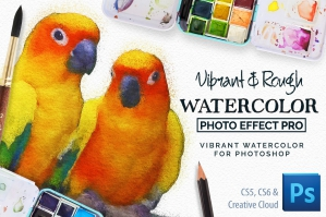 Vibrant Watercolor Photo Effect Kit