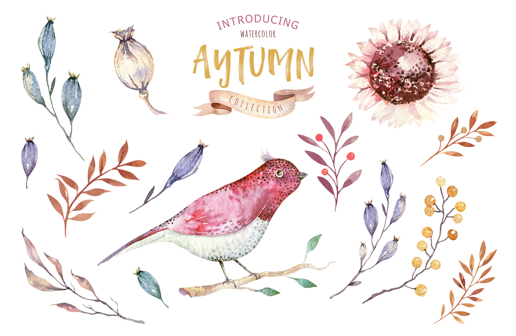 Watercolor Autumn Mood vol3