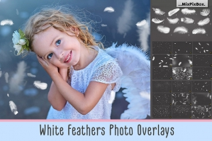 White Feather Overlays
