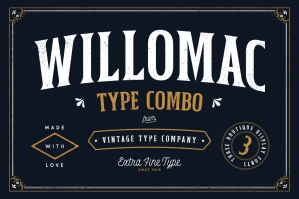 Willomac Hipster Font Combo
