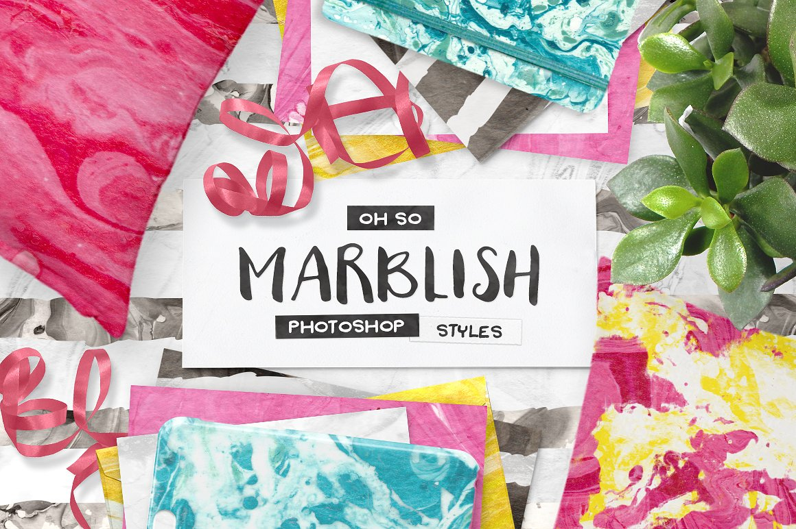 100 Photoshop Marble Paper Layer Styles