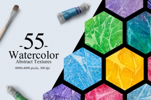 55 Watercolor Abstract Textures