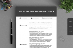 All in One Timeless Resume CV Pack
