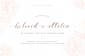 Beloved Ottilia Font Plus Free Logos