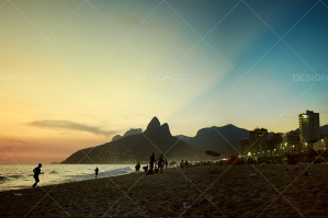 The Sun Sets On Ipanema Beach Activity Rio, Brazil