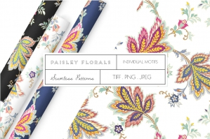 Exquisite Paisley Floral Patterns