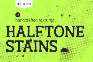 Halftone Stains Vol.1 Texture Pack