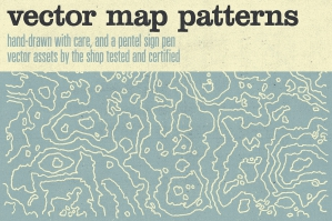 Hand-drawn Vector Map Patterns