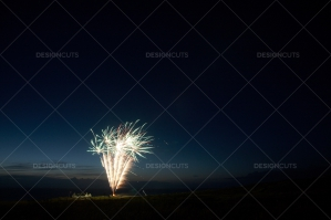 Motion Blurred Fireworks Light Up Night Sky No. 4