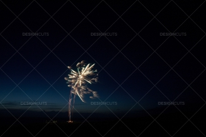 Motion Blur Firework In Night Sky