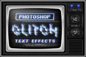 Photoshop Glitch Text Effects Vol.2