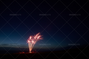 Motion Blurred Fireworks Light Up Night Sky No. 5