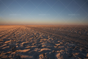 Road Tracks Through The Makgadikgadi Pan