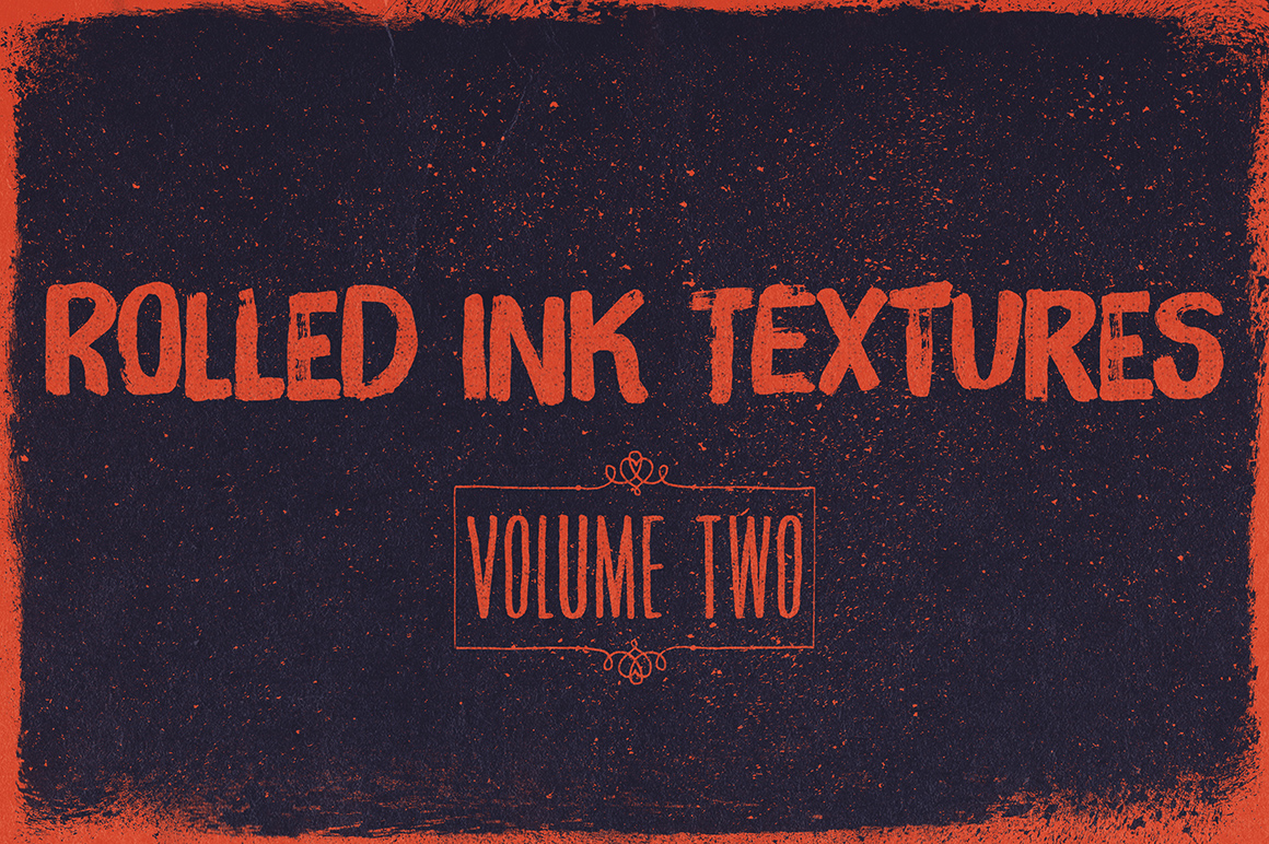 Rolled Ink Textures Volume 2