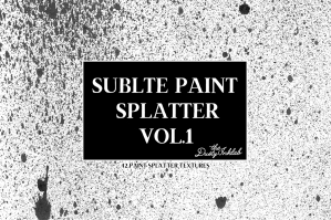 Subtle Paint Splatter Vol.1