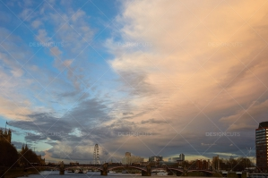 Sunset Over Lambeth Bridge London