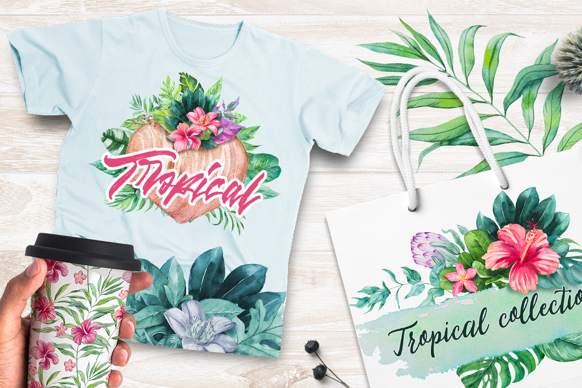 Tropical Watercolor Illustrations