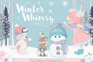 Winter Whimsy Clip Art Kit