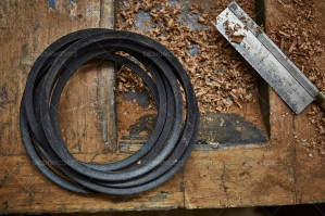 Circular Belt And Hand Saw On Woodwork Top No. 1