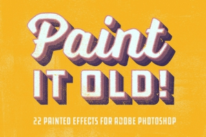 Paint It Old - Vintage Paint Effects for Photoshop