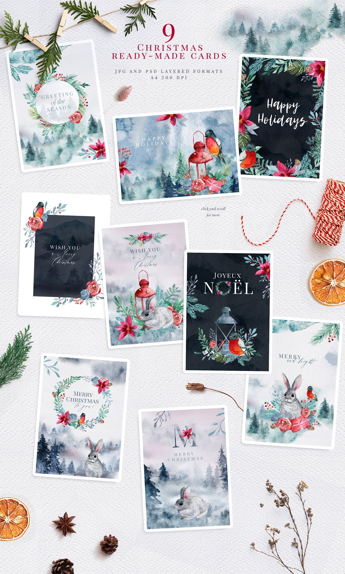 Warm Wishes - Christmas Watercolors