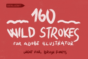 160 Wild Strokes - Brushes for Adobe Illustrator