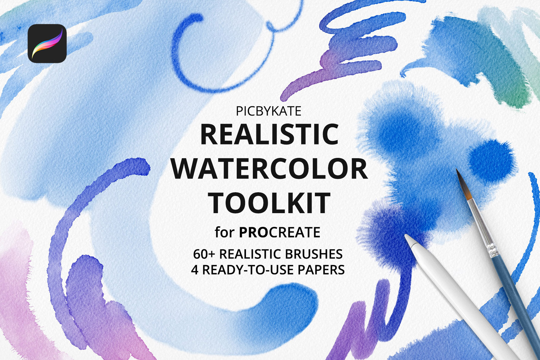 Realistic Watercolor Toolkit