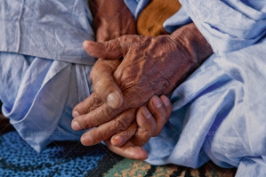 A Close Up Of A Nomadic Sharawi Elders Hands