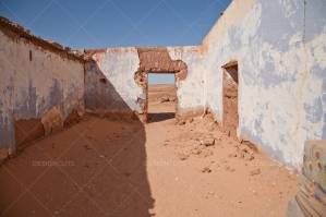 A Crumbling Building In The Algerian Sahara Desert