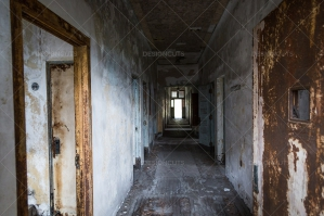 A Deserted Hallway In Ellis Island Immigration Hospital No. 2