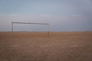 A Football Goalpost In The Sahara Desert No. 1