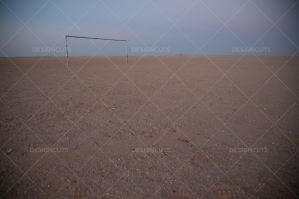A Football Goalpost In The Sahara Desert No. 2
