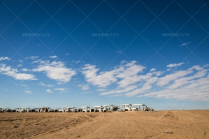 A Line Of Abandoned Cars In The Sahara Desert No. 6