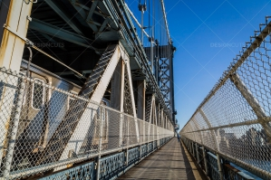 A View Along The Footpath On Manhattan Bridge 2