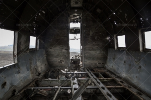 A View From Inside The Remains Of A Crashed DC 3 Plane No. 2