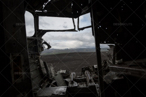 A View From Inside The Remains Of A Crashed DC 3 Plane No. 3