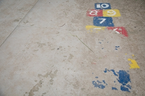 A Worn Out Hopscotch In A Playground