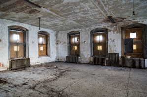 An Empty Room In The Derelict Ellis Island Immigration Hospital