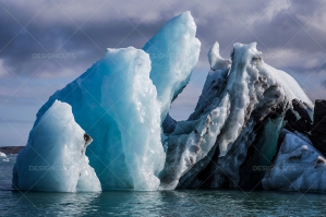 An Iceberg Floating In Jökulsárlón Glacier Lagoon No. 1