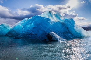 An Iceberg Floating In Jökulsárlón Glacier Lagoon No. 10