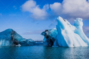 An Iceberg Floating In Jökulsárlón Glacier Lagoon No. 19
