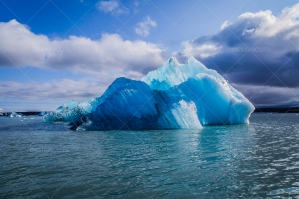 An Iceberg Floating In Jökulsárlón Glacier Lagoon No. 9