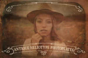 Antique Heliotype Photoplates